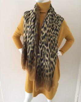 Sjaal luipaard print